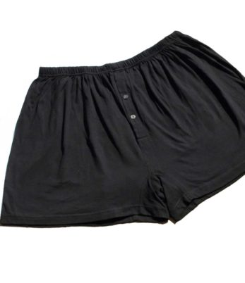 Plus size black boxer shorts