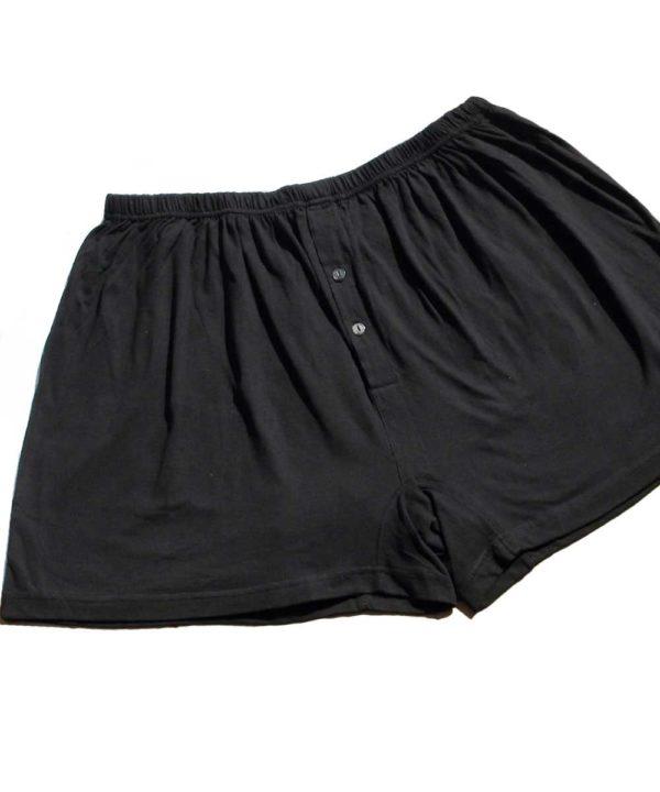Plus size black boxer shorts
